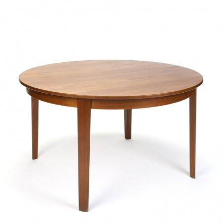 Round extendable vintage Omann Jun model 55 dining table