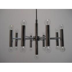 Chromen ster hanglamp
