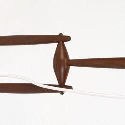 Teakhouten vintage Scandinavische wandlamp