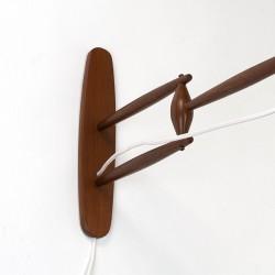 Teak vintage Scandinavian wall lamp