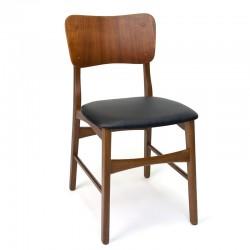 Deense vintage eettafel stoel met grote rugleuning