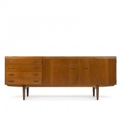 Vintage teak sideboard low model