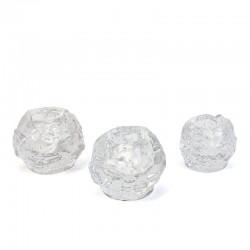 Set van 3 vintage sneeuwballen design Ann Warff