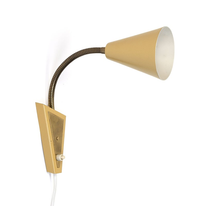 Sixties vintage wall lamp with adjustable arm