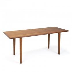 Rechthoekig model teakhouten vintage Deense salontafel of