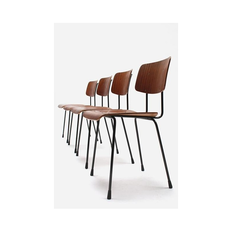 Set of 4 Gispen chairs by Cordemeyer