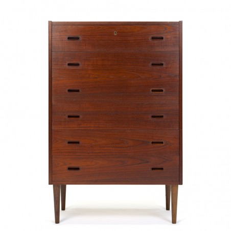 High vintage Danish teak chest of drawers