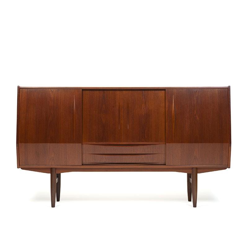 Deens teakhouten vintage groot model dressoir