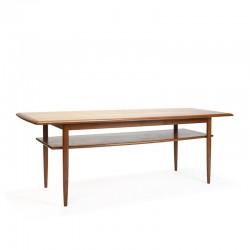Deense vintage design salontafel in teakhout