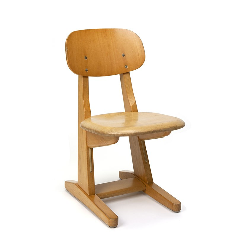 Wooden vintage child's chair from Casala