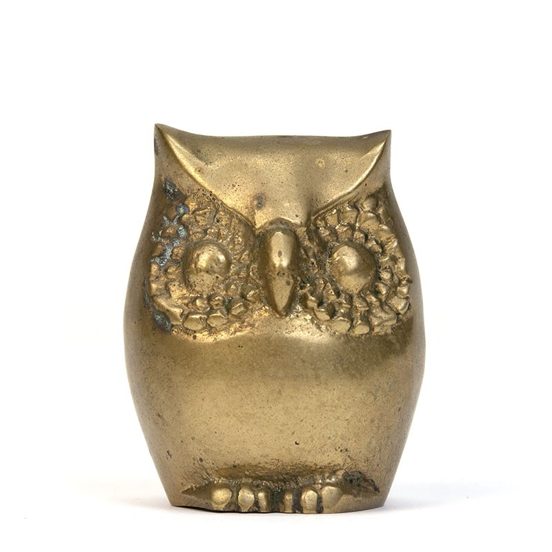 Small vintage sculpture of an owl