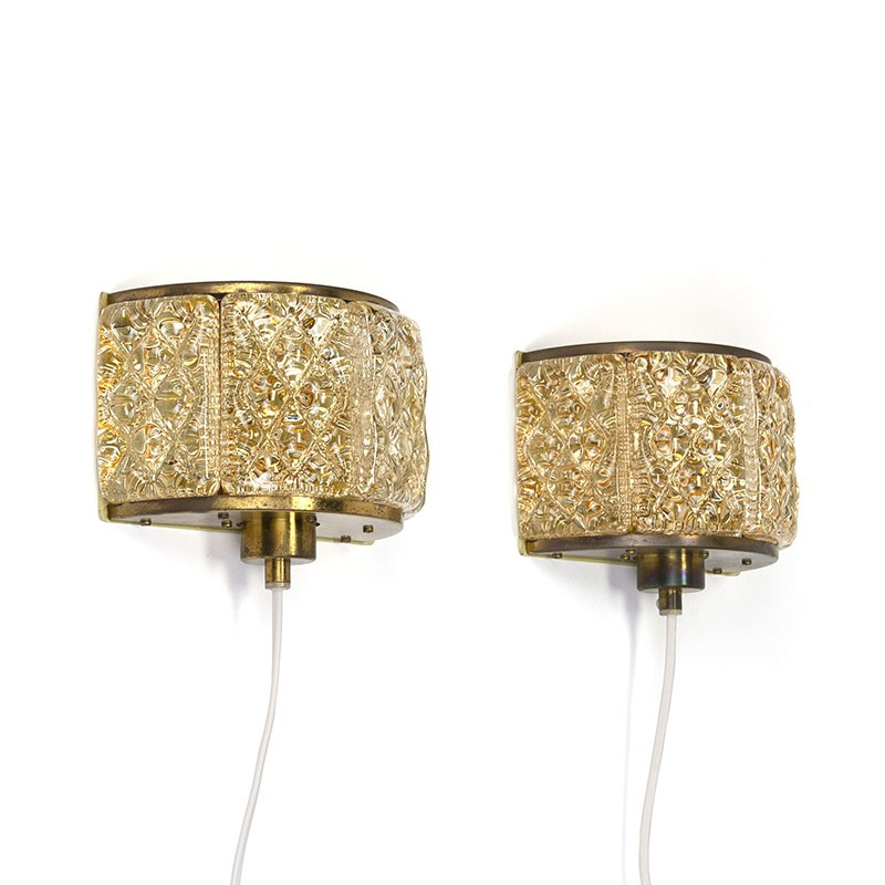 Danish set of vintage wall lamps from Vitrika
