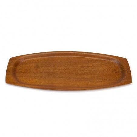 Teak vintage tray oval