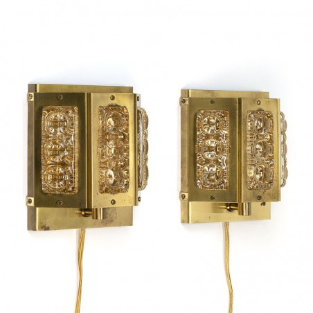 Vintage set van 2 Vitrika wandlampen type Olympia