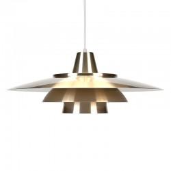 Messing kleurige vintage Deense hanglamp