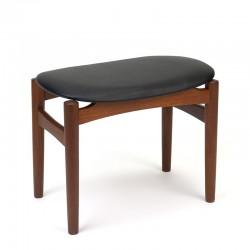 Danish small teak stool / ottoman