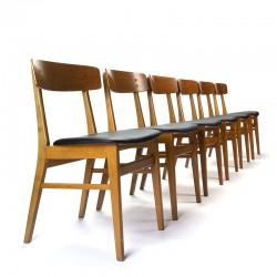 Set van 6 vintage Farstrup model 211 stoelen