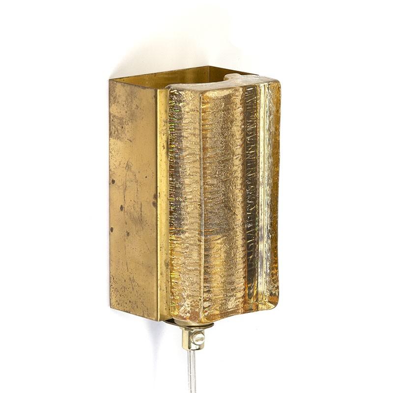 Vintage wandlamp type Atlantic van Vitrika