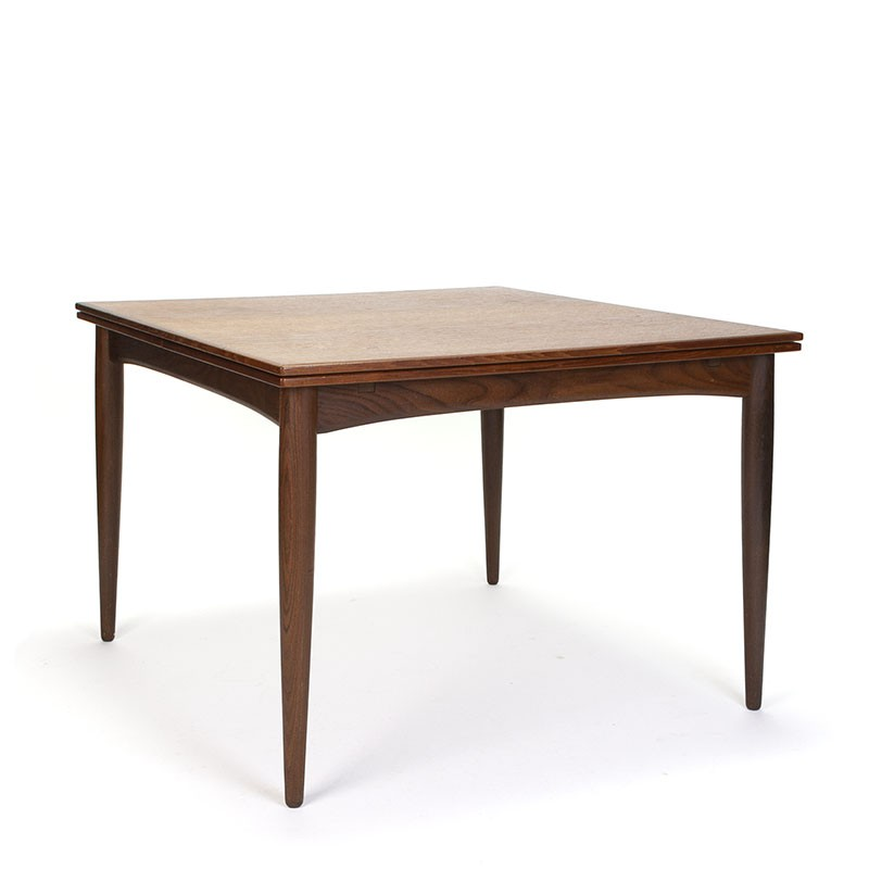 Danish dining table in teak vintage square extendable model