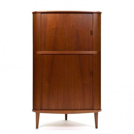 Danish vintage Skovmand and Andersen corner cabinet in teak