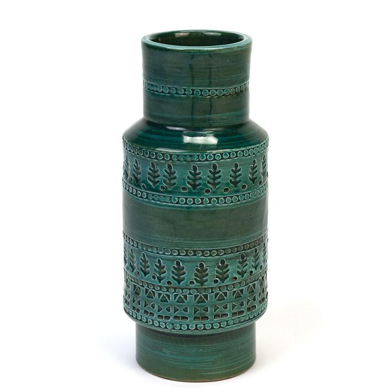 Vintage Rimini Green vase design Aldo Londi