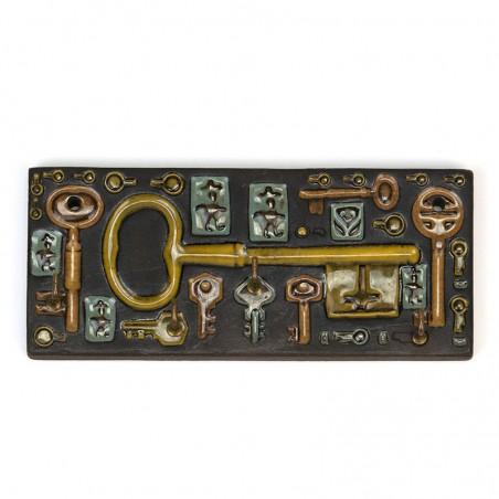 Vintage aardewerk sleutelrekje design Berg Denmark