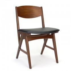 Vintage Deense eettafel stoel met bijzonder frame