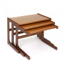 Set of vintage nesting tables in teak