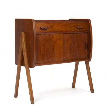 Small Swedish vintage cabinet with V-shaped base
