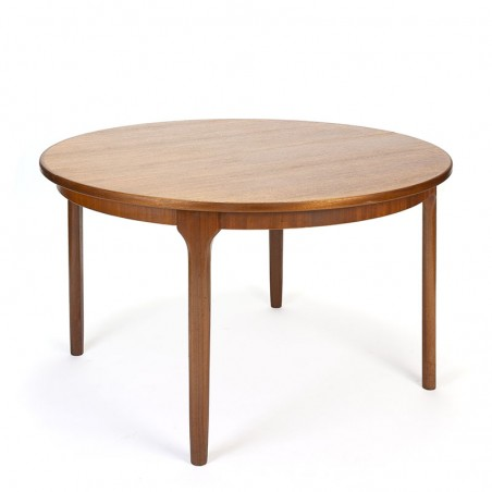 Round extendable vintage McIntosh dining table in teak