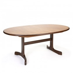 Oval model vintage Gplan dining table extendable