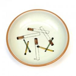 Vintage mini plate with cigarettes Knabstrup ceramics