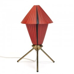 Danish vintage table lamp on brass 3 legs
