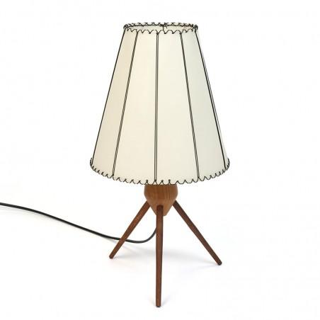 Deens vintage tafellampje op 3 poot met kap