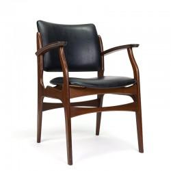 Teak vintage chair with armrest