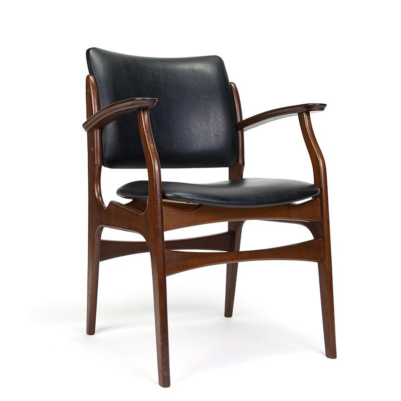 Teakhouten vintage stoel met armleuning