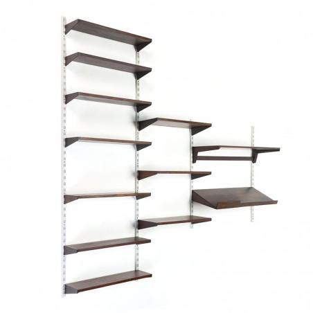 Rosewood vintage wall system design Kai Kristiansen