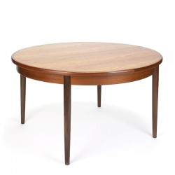 Round extendable vintage Gplan dining table in teak