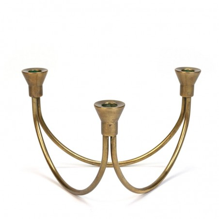 Vintage brass candlestick for 3 candles