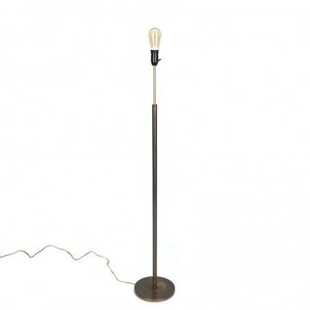 Minimalist brass standing vintage floor lamp