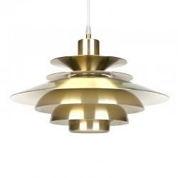 Messing Deense vintage hanglamp