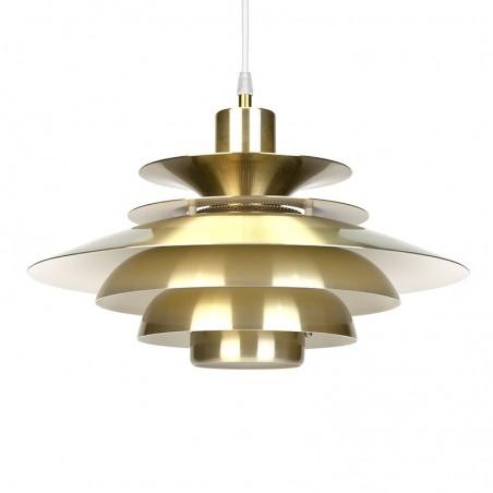 Brass Danish vintage hanging lamp