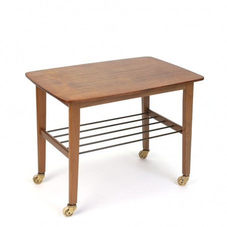 Side table and / or tea trolley Danish vintage design