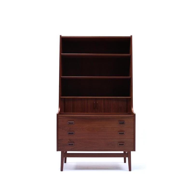 Secretaire/ boekenkast in teakhout jaren 60