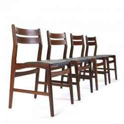 Set of 4 vintage chair model 77 from the Boltinge stolefabrik