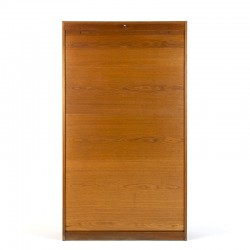 Large oak vintage Danish tambour / filing cabinet