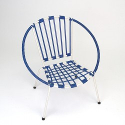 Danish vintage white with blue child's chair