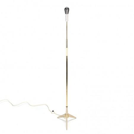 Vintage standing fifties floor lamp on 3 legs