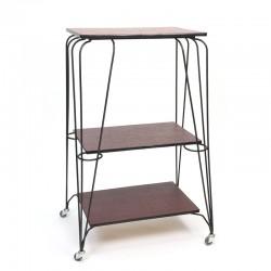 Vintage metal fifties rack / cart