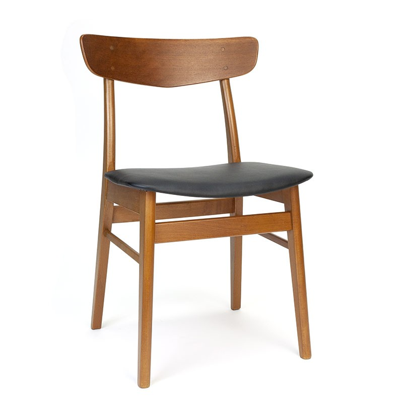 Danish vintage dining table chair with visible wood connection